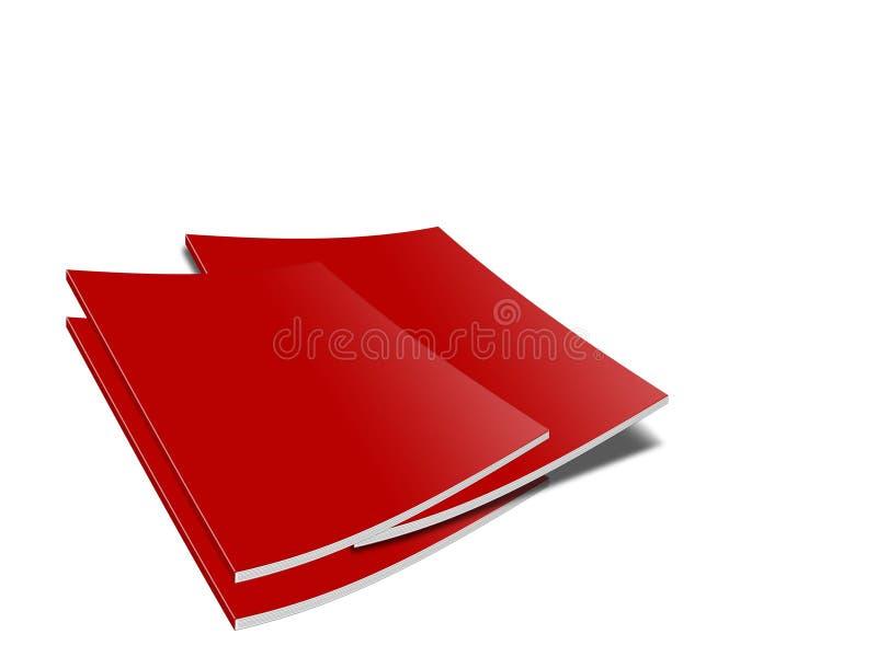 Livres rouges illustration de vecteur