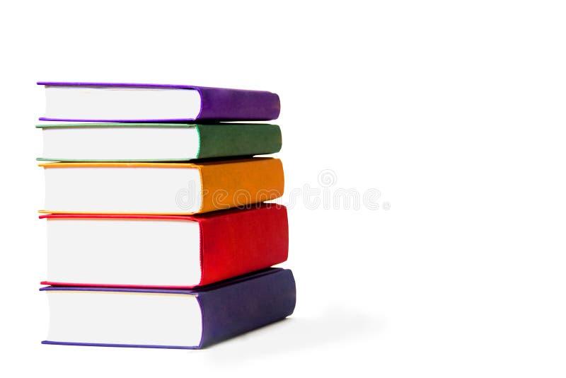 Livres sur le fond blanc photographie stock