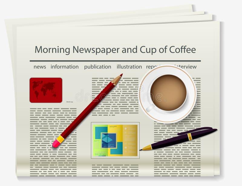 livreto Jornal Imagem real?stica do objeto ilustração royalty free