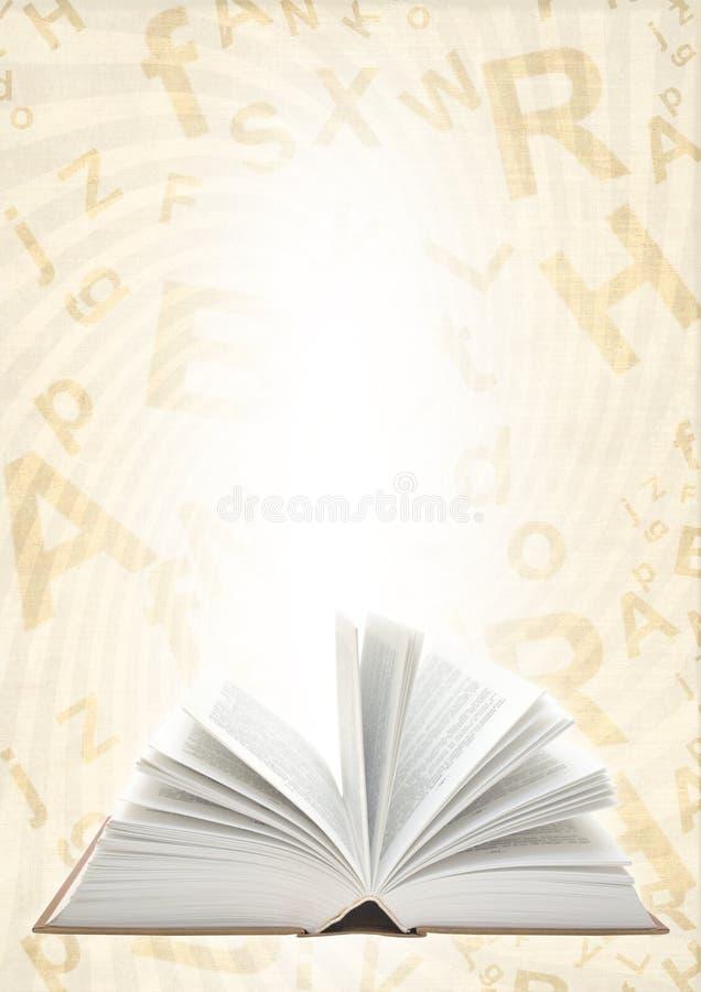 Livro ilustração stock
