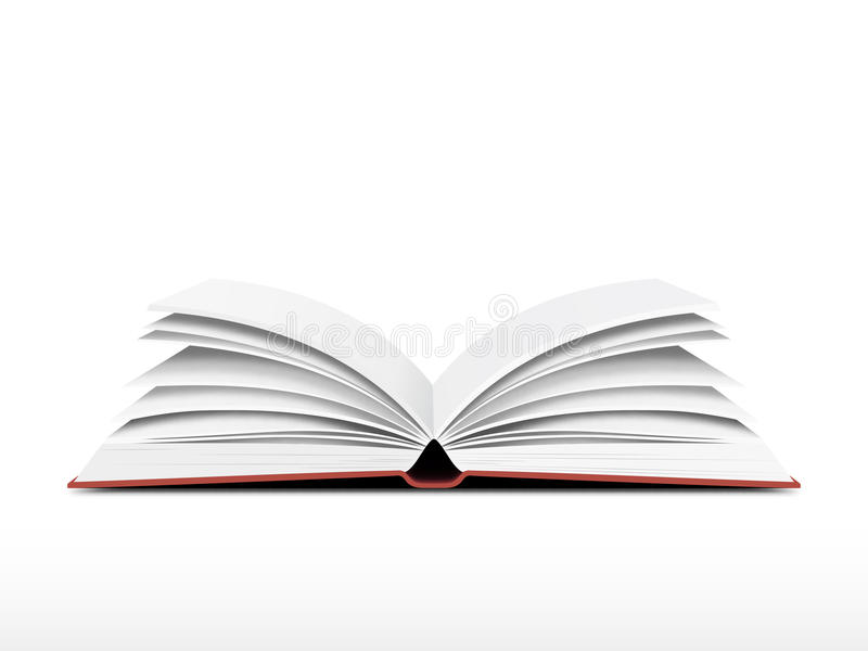 Livro aberto ilustração royalty free