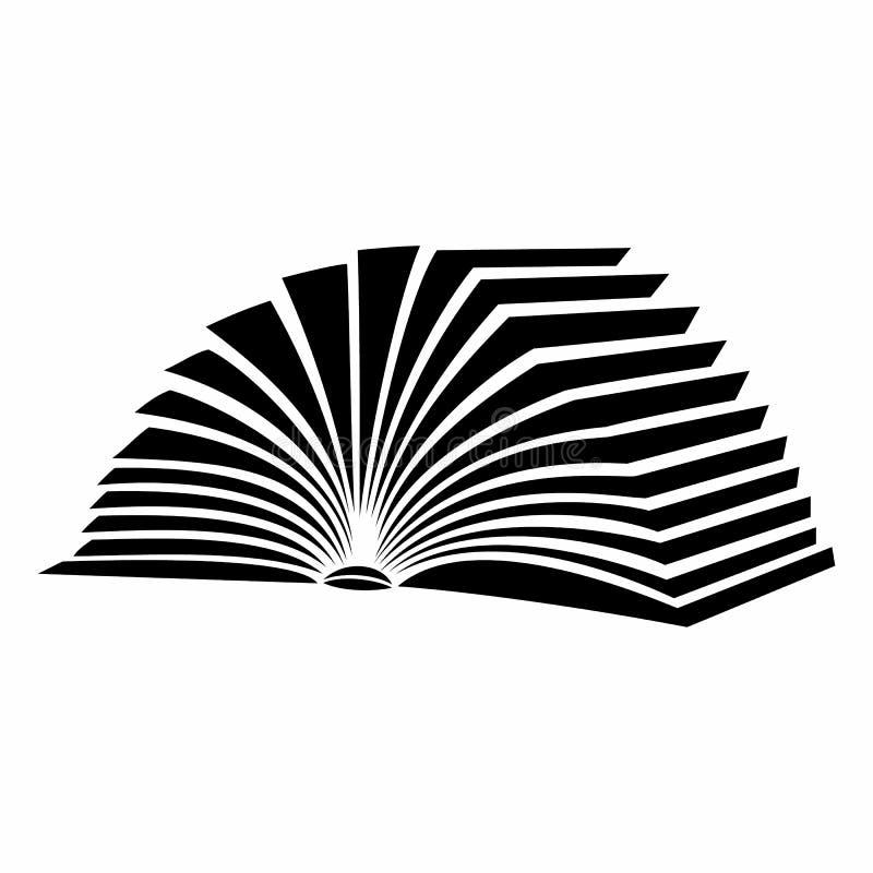 Livro aberto com ícone de vibração das páginas ilustração stock