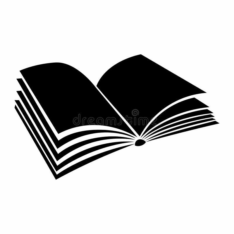 Livro aberto com ícone de vibração das páginas ilustração royalty free
