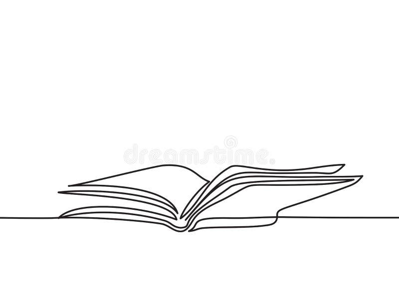Livro aberto com as páginas isoladas no branco ilustração royalty free