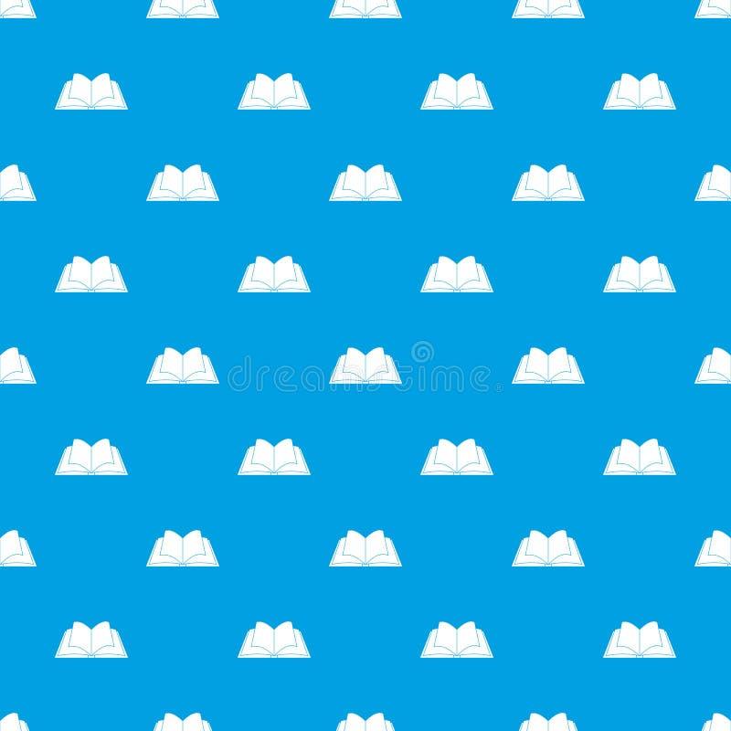 Livro aberto com o azul sem emenda de vibração do teste padrão das páginas ilustração stock