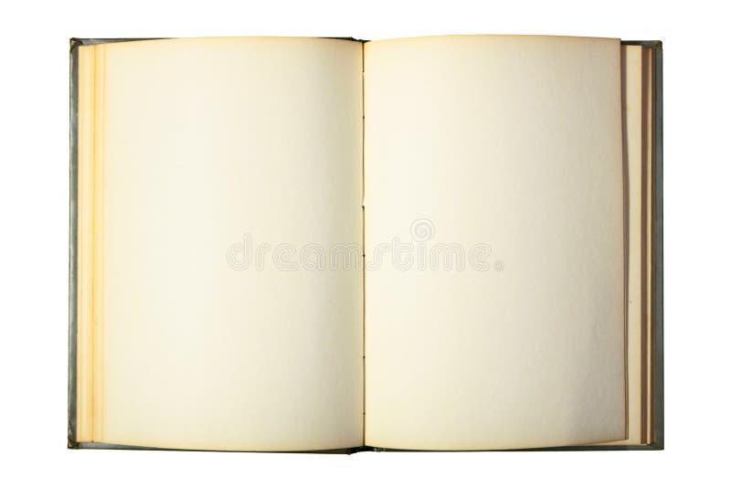 Livro aberto com páginas em branco fotografia de stock