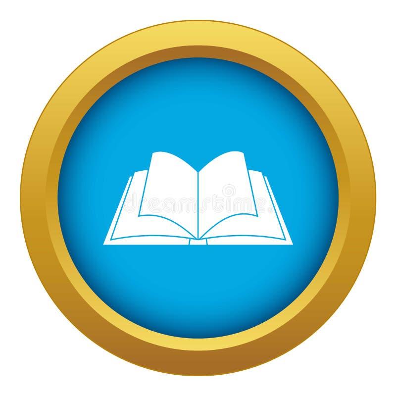 Livro aberto com vetor azul de vibração do ícone das páginas isolado ilustração royalty free