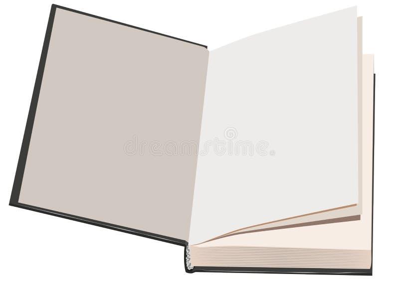 Livro aberto da folha em branco ilustração royalty free
