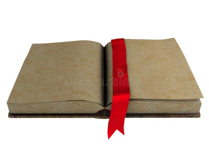 Livro aberto do espaço em branco antigo ilustração do vetor