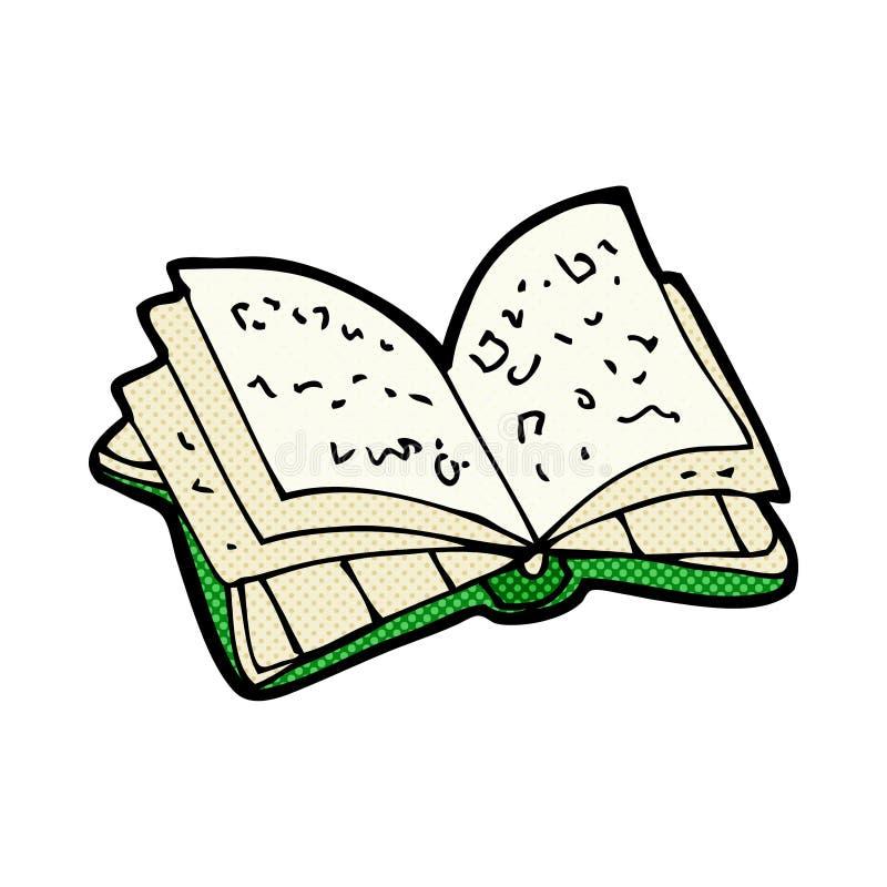 livro aberto dos desenhos animados cômicos ilustração do vetor