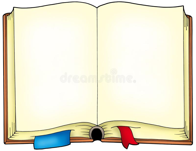 Livro aberto velho ilustração royalty free