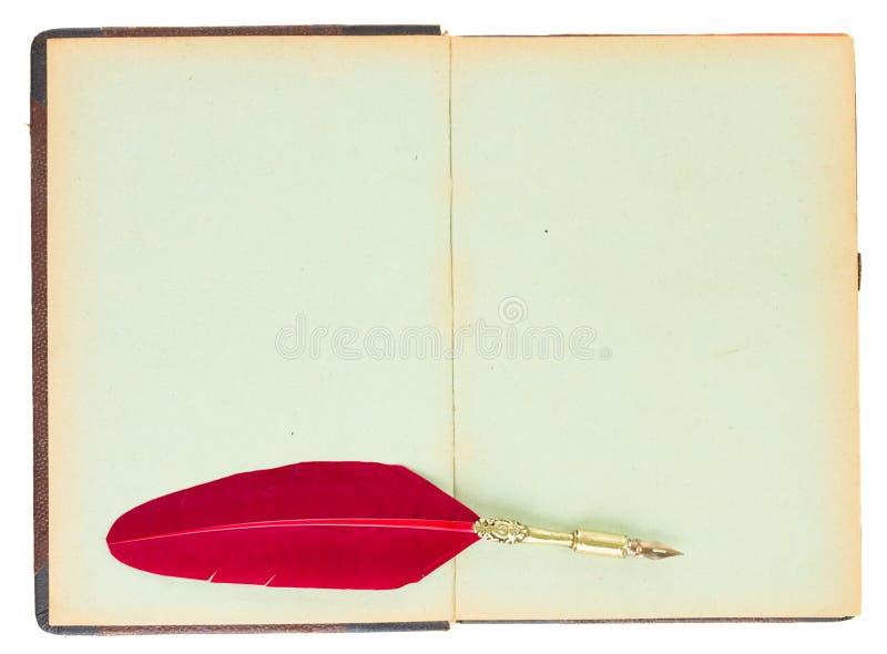 Livro aberto velho foto de stock