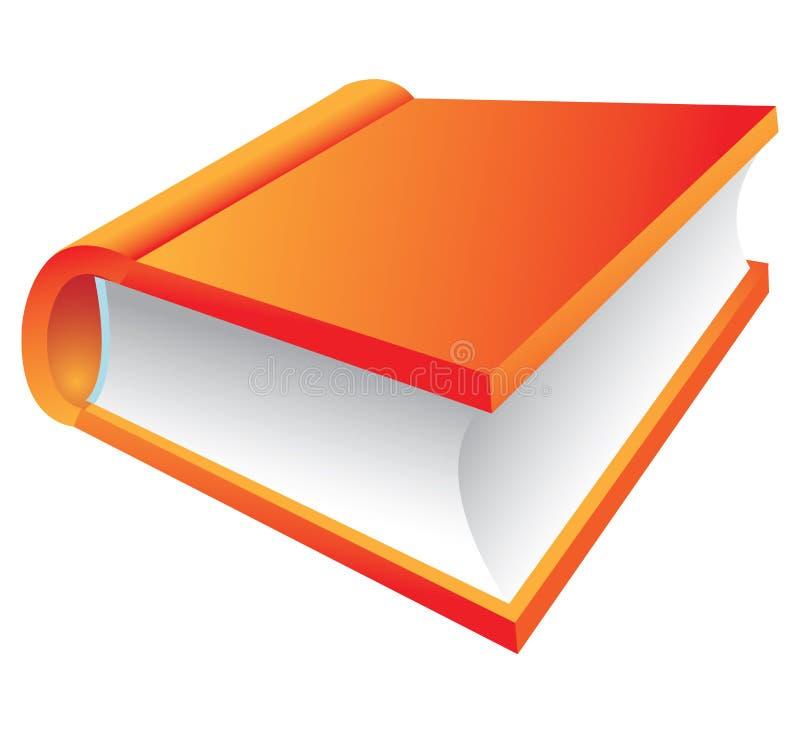 Livro alaranjado 3d ilustração stock