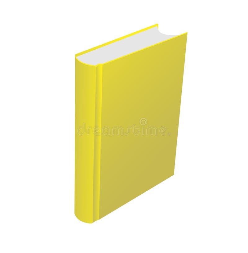 Livro amarelo ilustração do vetor