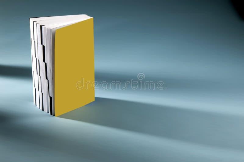 Livro amarelo isolado ilustração stock