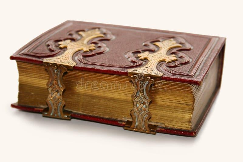 Livro antigo, com fecho dourado fotografia de stock royalty free