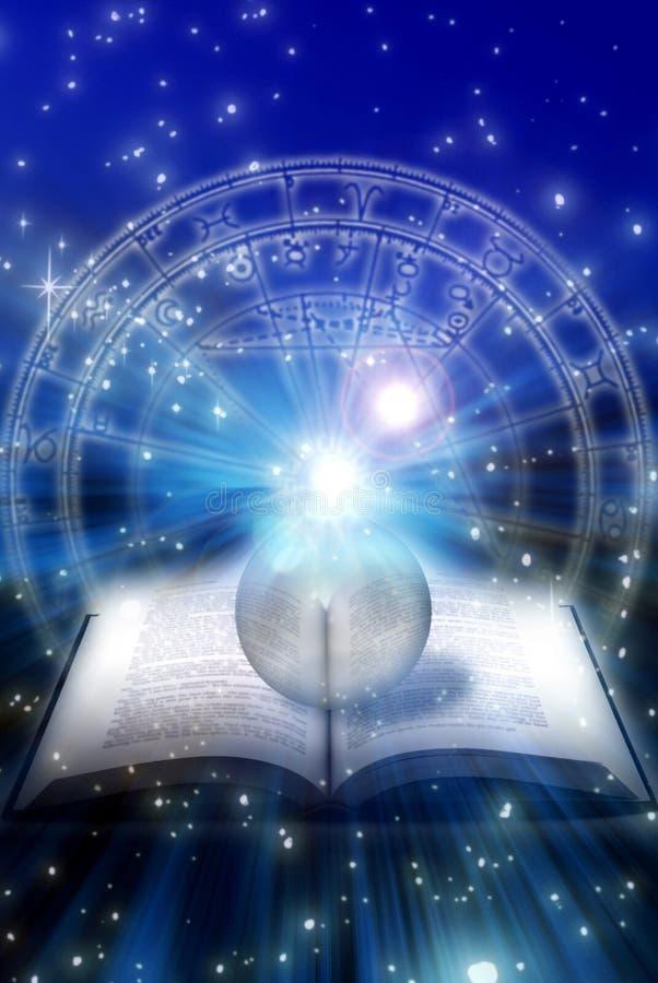 Livro astrológico imagem de stock