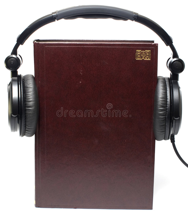 Livro audio imagem de stock