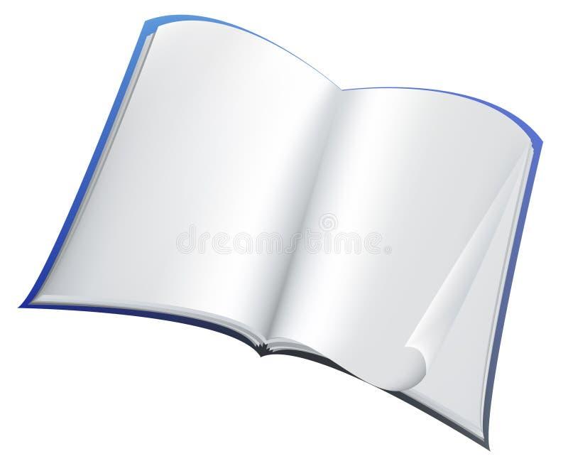 Livro azul ilustração do vetor