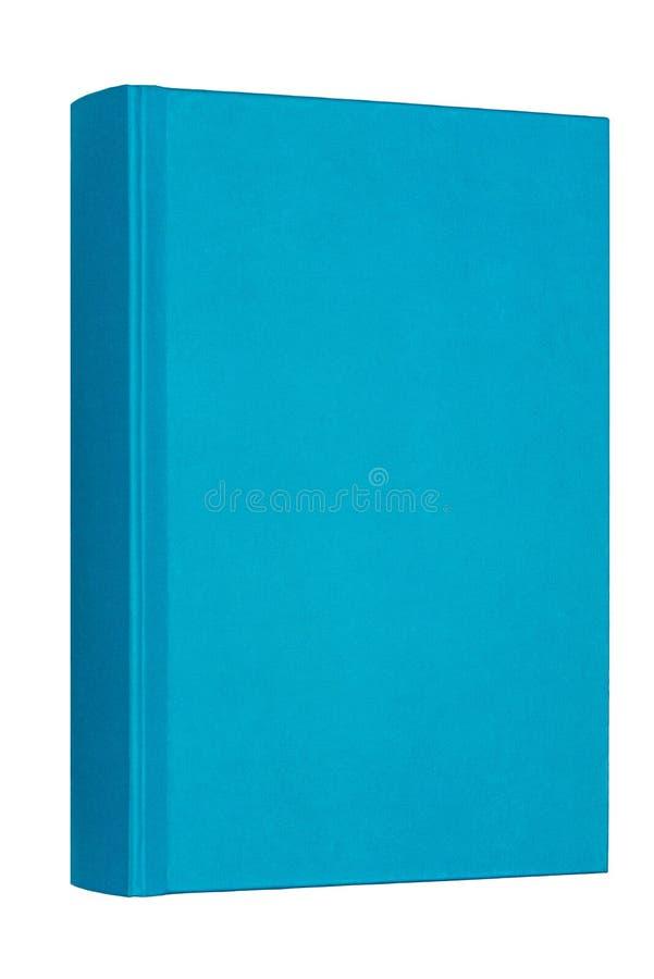 Livro azul grosso isolado no fundo branco fotos de stock royalty free