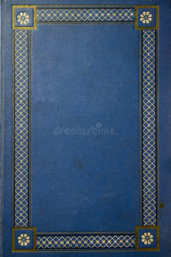 Livro azul velho do grunge fotografia de stock