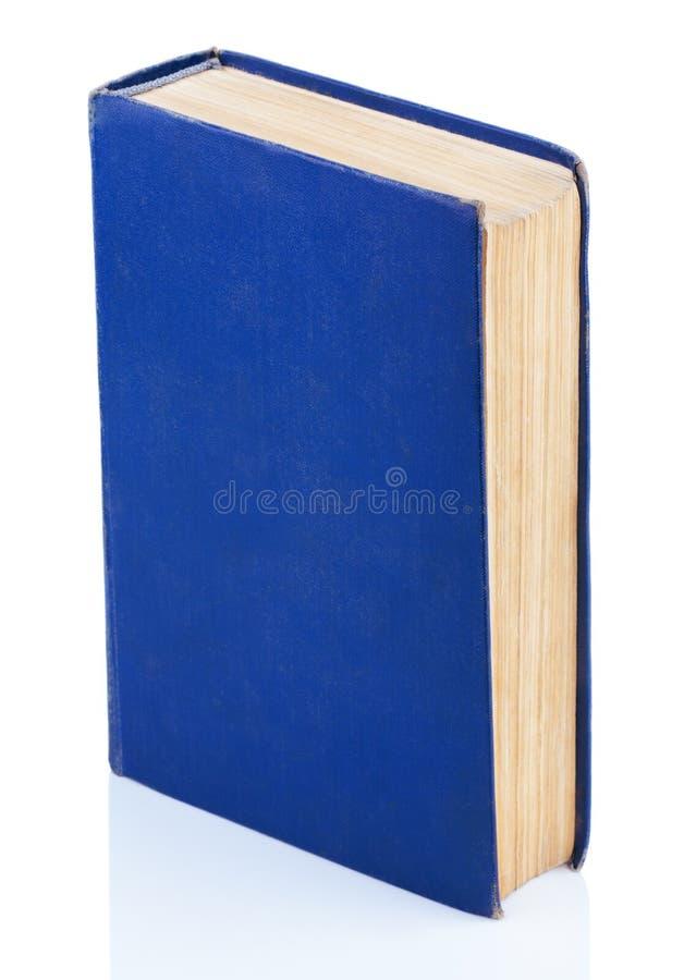 Livro azul velho fechado fotografia de stock royalty free