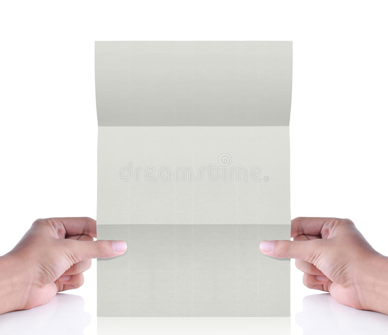 Livro Branco à disposicão. letra foto de stock