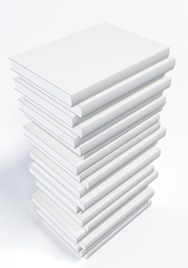 Livro branco ilustração stock