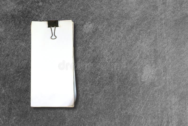 Livro Branco com grampo fotos de stock royalty free