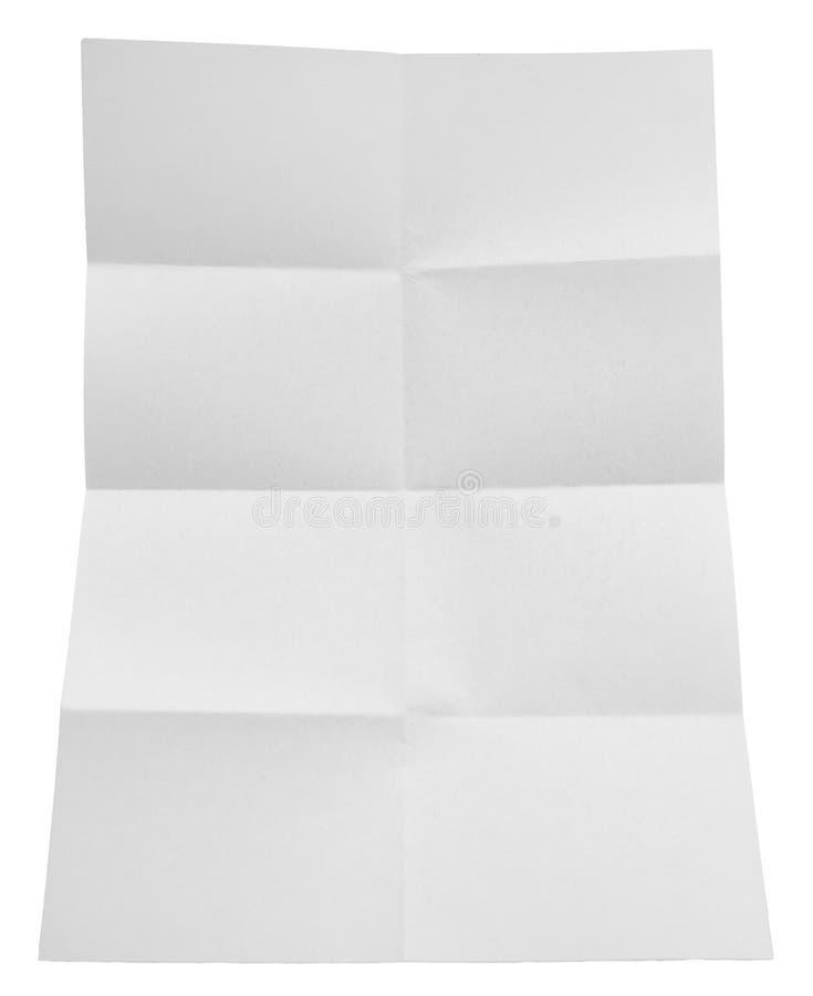 Livro Branco dobrado isolado no fundo branco fotos de stock