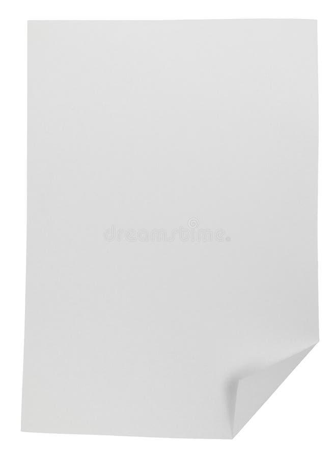 Livro Branco dobrado isolado no fundo branco fotos de stock royalty free