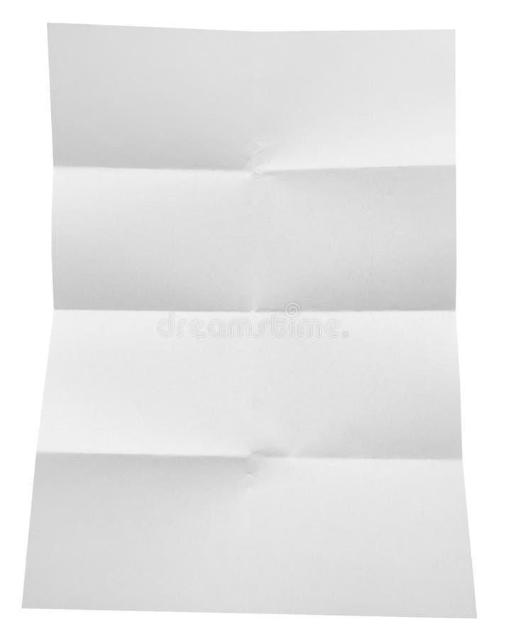 Livro Branco dobrado isolado no fundo branco fotografia de stock