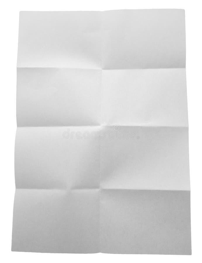 Livro Branco dobrado isolado no fundo branco foto de stock royalty free