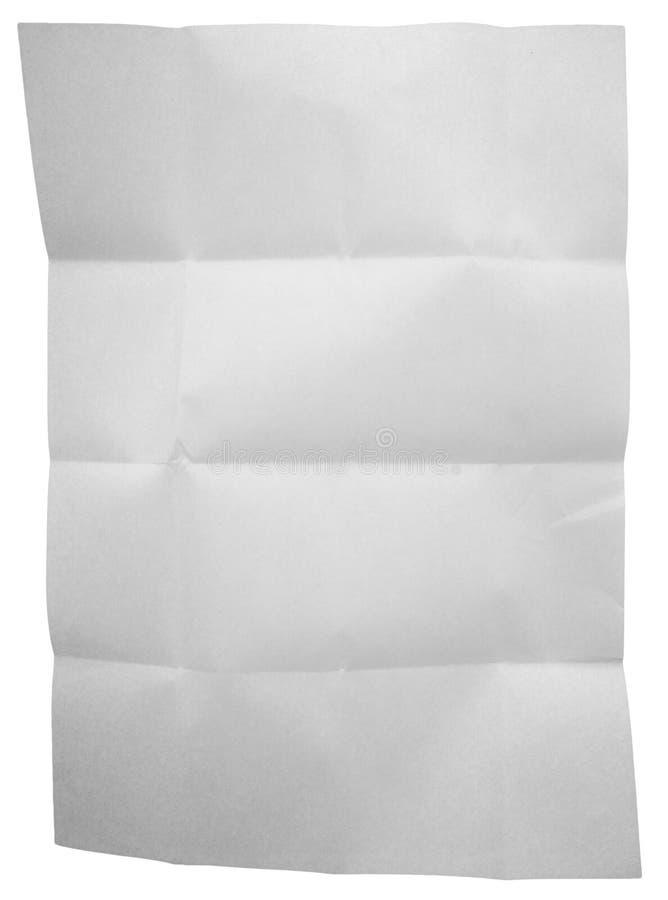 Livro Branco dobrado isolado no fundo branco imagem de stock royalty free