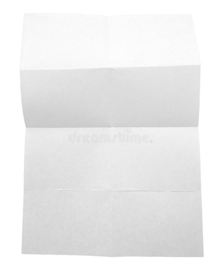 Livro Branco dobrado isolado no fundo branco fotografia de stock royalty free