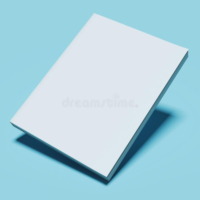 Livro branco em branco ilustração stock