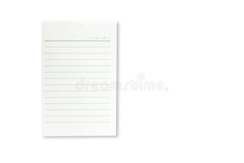 Livro Branco em branco imagem de stock