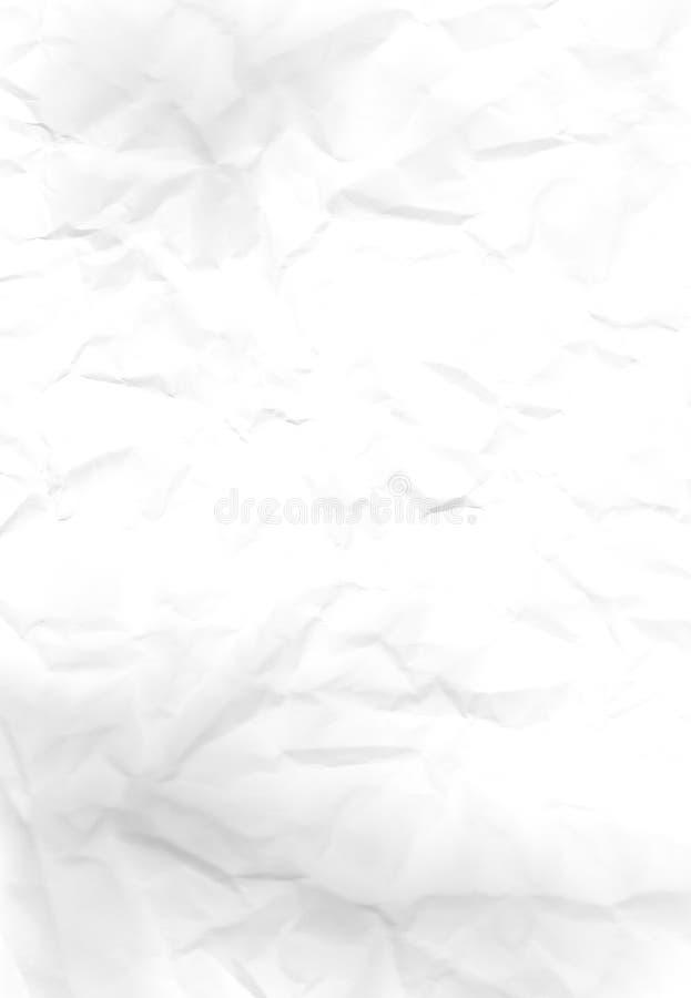 Livro Branco enrugado fotografia de stock royalty free