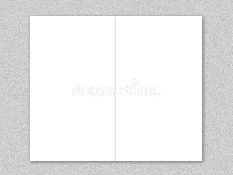 Livro Branco na tabela do cimento ilustração royalty free