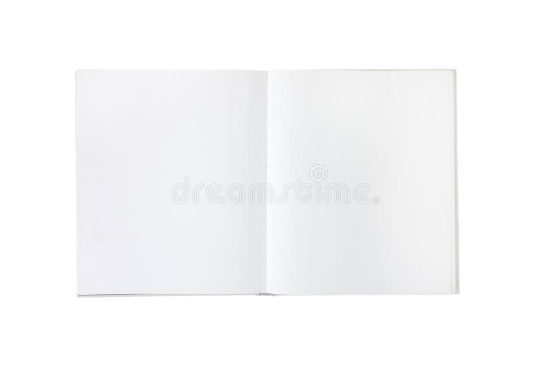Livro branco ou folheto vazio em branco fotos de stock