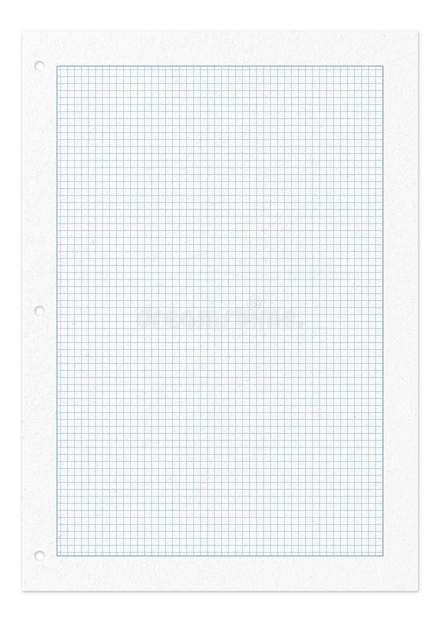 Página esquadrada do teste padrão do papel isolada no branco fotos de stock