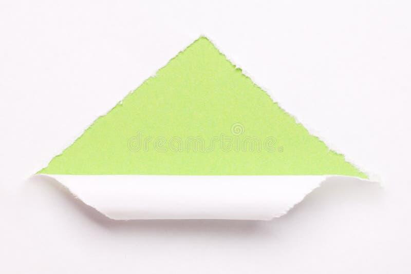 Livro Branco rasgado imagem de stock