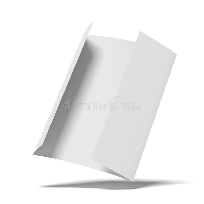 Livro Branco vazio ilustração stock