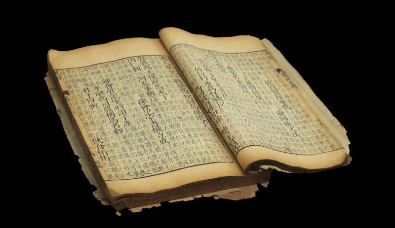 Livro chinês velho fotografia de stock