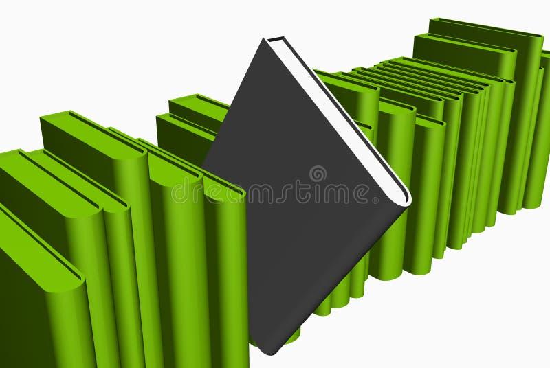 Livro cinzento entre o verde ilustração do vetor