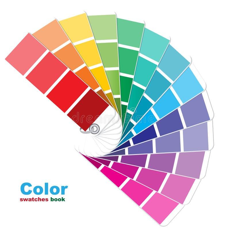 Livro colorido dos swatches ilustração do vetor