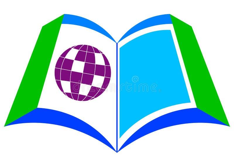 Livro com globo ilustração do vetor