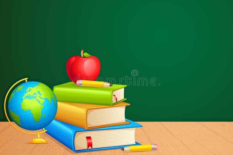 Livro com globo ilustração stock