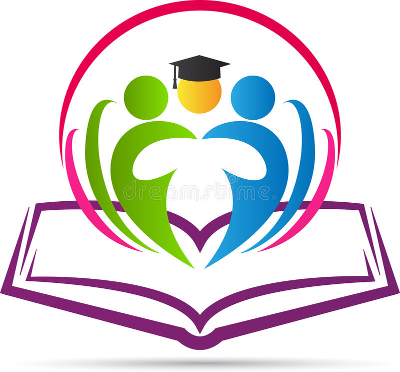Livro com graduado ilustração royalty free