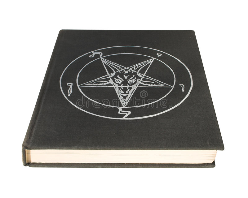 Livro com pentagram foto de stock